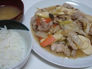 鶏とマコモダケの中華風炒め_c0025217_23175448.jpg