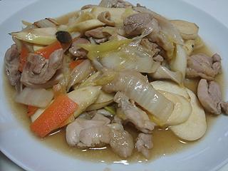 鶏とマコモダケの中華風炒め_c0025217_2318074.jpg