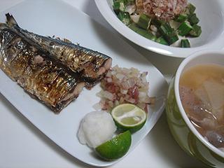 秋刀魚の塩焼き_c0025217_0404449.jpg
