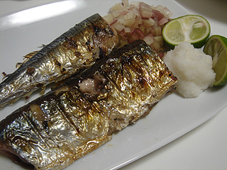 秋刀魚の塩焼き_c0025217_040492.jpg