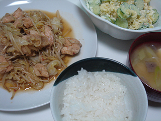 鶏むね肉の豆板醤炒め_c0025217_23495145.jpg