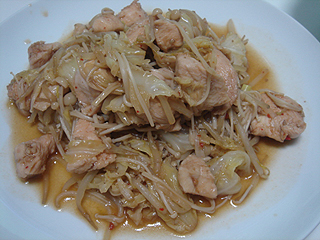 鶏むね肉の豆板醤炒め_c0025217_23495626.jpg