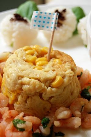 スモークサーモンと白菜のさっぱりサラダとワンプレートランチ☆_d0104926_1532817.jpg
