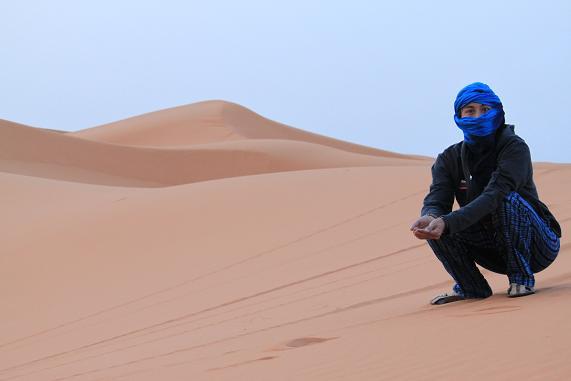 幻想的な砂