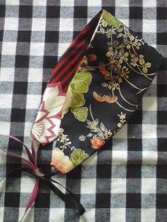 ヘッドドレス†黒花