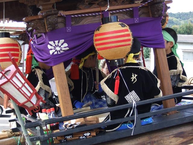 熊野神社秋季例大祭 例大祭の日の昼 新町頂戴出発_b0095061_11372756.jpg