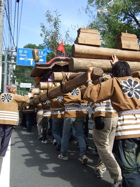 熊野神社秋季例大祭 例大祭の日の昼 新町頂戴出発_b0095061_11374381.jpg