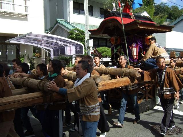 熊野神社秋季例大祭 例大祭の日の昼 新町頂戴出発_b0095061_11433742.jpg