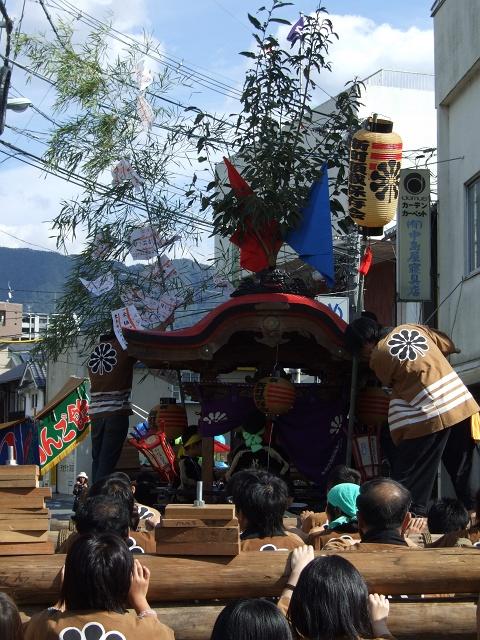 熊野神社秋季例大祭 例大祭の日の昼 新町から、熊野神社へ_b0095061_11495855.jpg