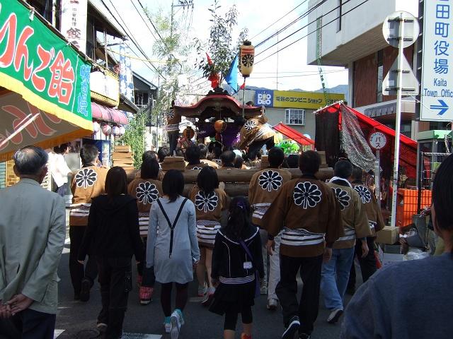 熊野神社秋季例大祭 例大祭の日の昼 新町から、熊野神社へ_b0095061_11514952.jpg