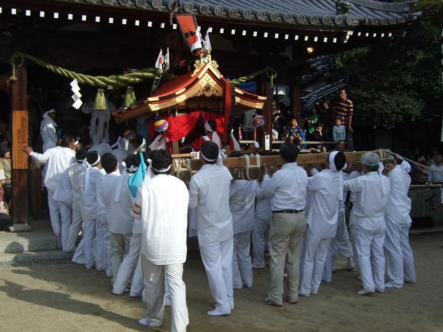 坂八幡宮 秋祭 本祭り その2 荒々しい頂戴奉納_b0095061_12134968.jpg