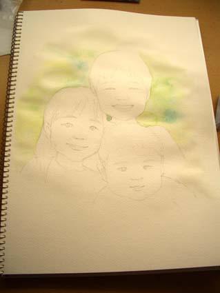 似顔絵の制作_f0176370_1724712.jpg