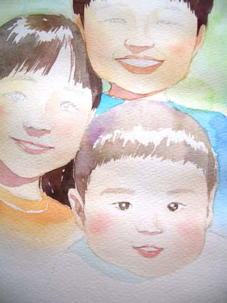 似顔絵の制作_f0176370_1744084.jpg
