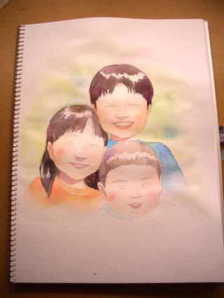似顔絵の制作_f0176370_174592.jpg
