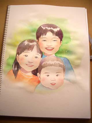 似顔絵の制作_f0176370_1754826.jpg