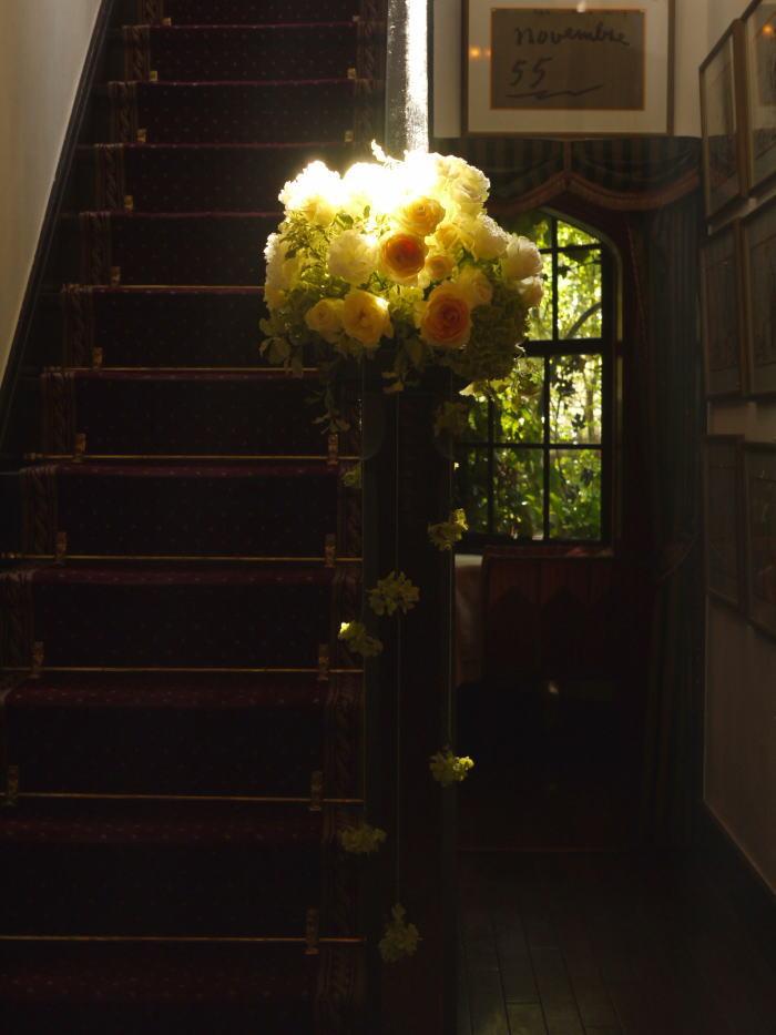 シェ松尾松濤レストラン様の装花 ひとつところ_a0042928_22523971.jpg