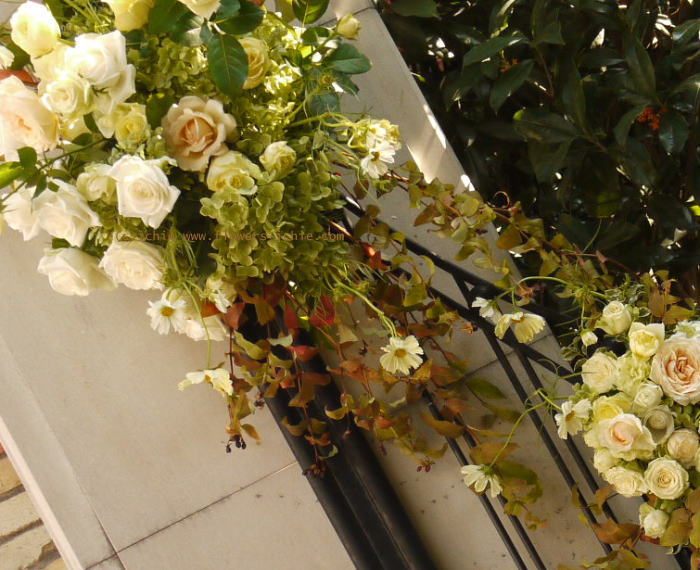 シェ松尾松濤レストラン様の装花 ひとつところ_a0042928_232365.jpg