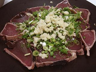 鶏むね肉のカレー炒めと鰹のたたき_c0025217_2338505.jpg