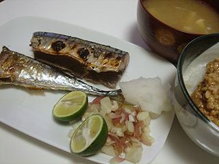 秋刀魚の塩焼き_c0025217_2344384.jpg