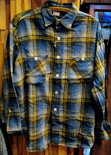 50-60'S BIG YANK マチ付 ネルシャツ!_c0144020_13444368.jpg