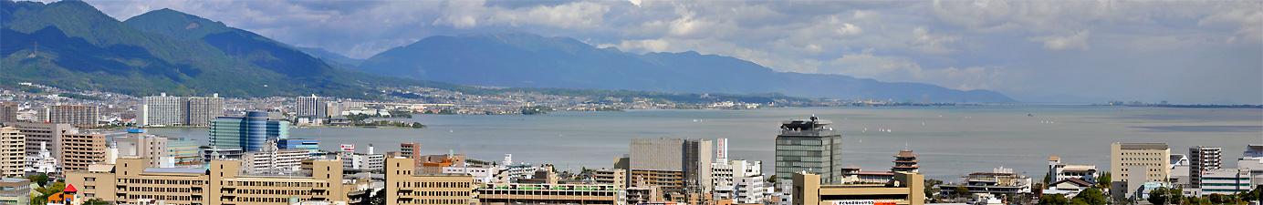 大津より琵琶湖を望む