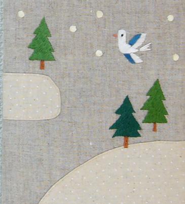 """刺繍ミニバッグ \"""" 雪が降ってきた \""""_a0138978_8525512.jpg"""