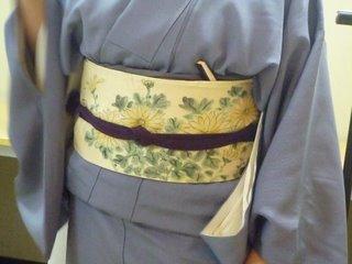 菊日和には ため帯 で!_f0205317_22101894.jpg