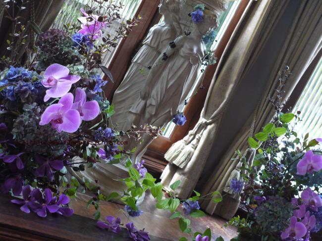 秋の装花 マダムトキ様へ 紫、オーキッド、秋_a0042928_22213867.jpg