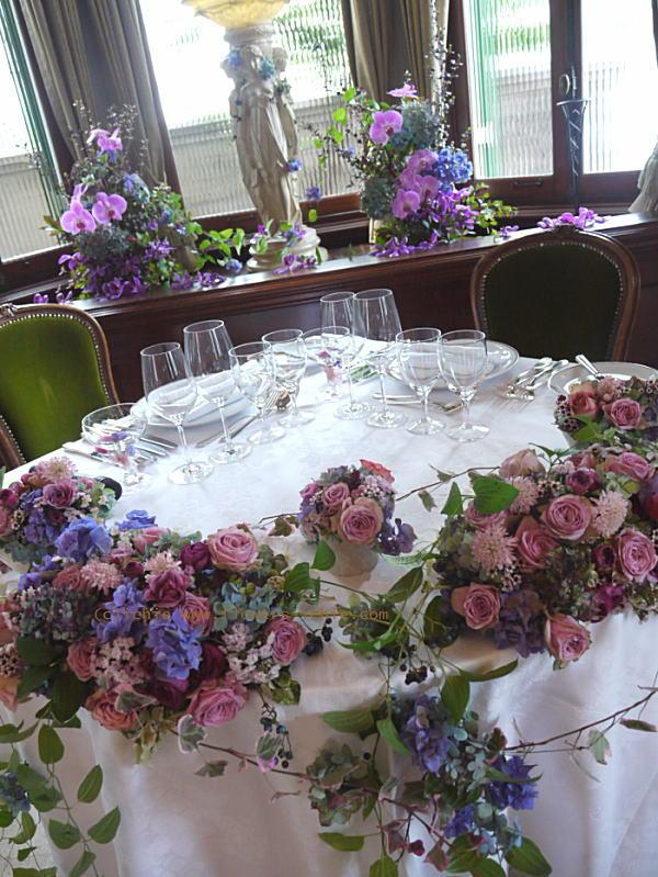 秋の装花 マダムトキ様へ 紫、オーキッド、秋_a0042928_2221643.jpg