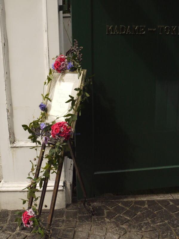 秋の装花 マダムトキ様へ 紫、オーキッド、秋_a0042928_2222622.jpg