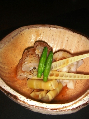 炙りはもと新れんこん・四方竹の梅酢掛け_c0161981_2053930.jpg