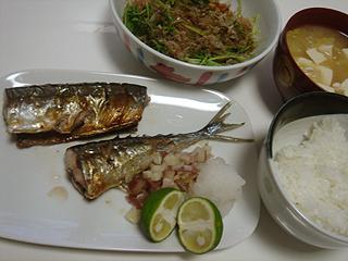 秋刀魚の塩焼き_c0025217_0345062.jpg