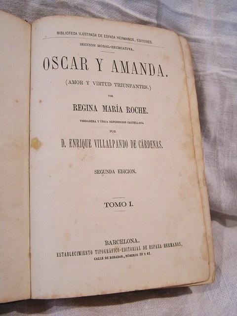 """Book 99  """"Oscar y Amanda""""上下巻 半額以下_f0112550_5502452.jpg"""