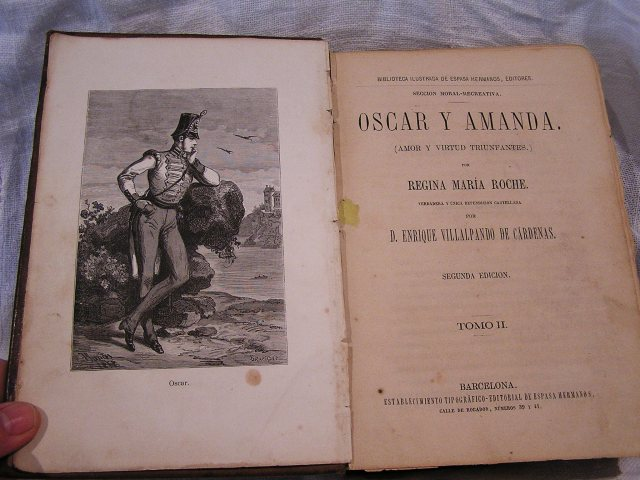 """Book 99  """"Oscar y Amanda""""上下巻 半額以下_f0112550_5565055.jpg"""