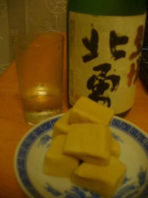 オリオンのあと「北勇」青森銘酒。アテは「ちいさなこうや」。_c0061686_4365061.jpg