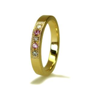 ピンクサファイアとダイヤモンドの指輪_e0131432_1346252.jpg