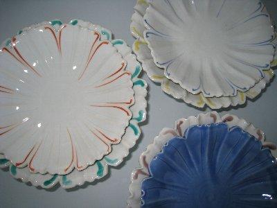 清水 潔  輪花色絵皿_c0204333_17311844.jpg