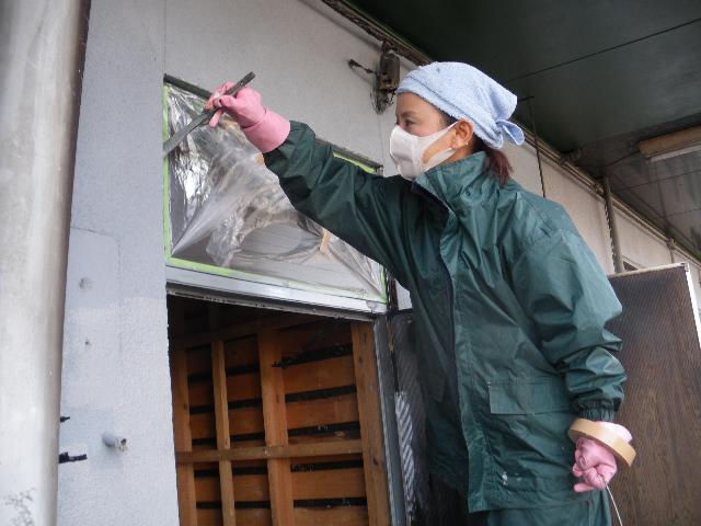 火災現場補修工事二日目です。_c0186441_194081.jpg