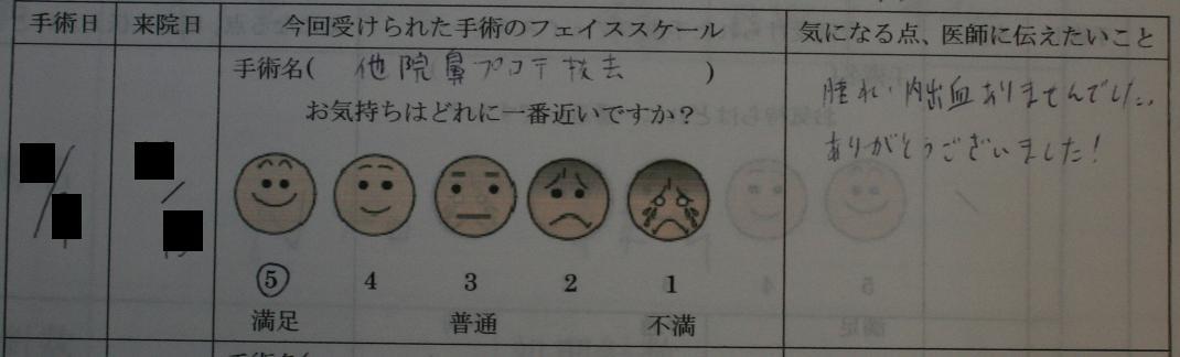 鼻プロテーゼ抜去術(若先生)_d0092965_2325872.jpg
