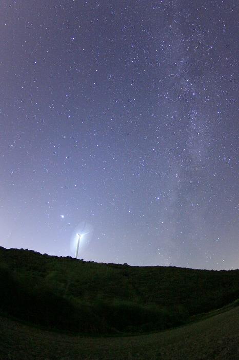 風車と天の川・・・☆_a0122544_16221058.jpg