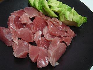 まぐろ刺身と鶏しょうがスープ_c0025217_19434092.jpg