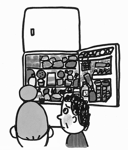冷蔵庫/絵&文:真珠まりこ_a0083222_13441396.jpg