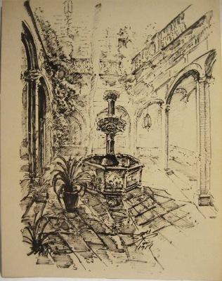 バルセロナ旧市街のスケッチLamina (1920年代) _f0112550_3314821.jpg