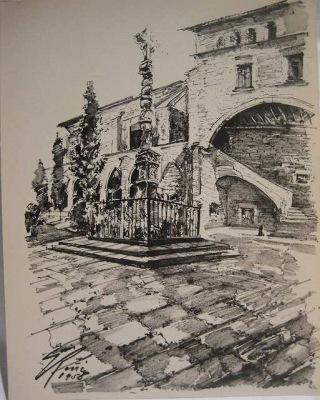 バルセロナ旧市街のスケッチLamina (1920年代) _f0112550_3321581.jpg