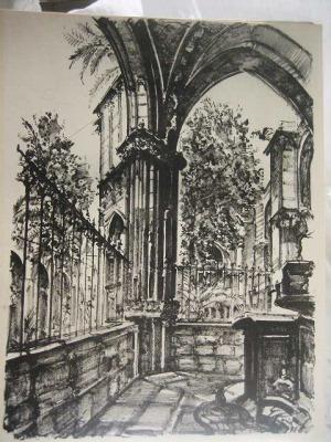 バルセロナ旧市街のスケッチLamina (1920年代) _f0112550_3365872.jpg