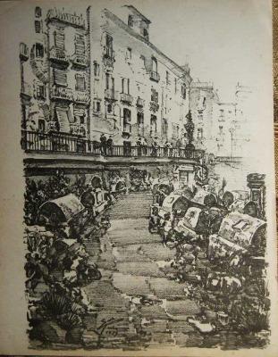 バルセロナ旧市街のスケッチLamina (1920年代) _f0112550_341307.jpg