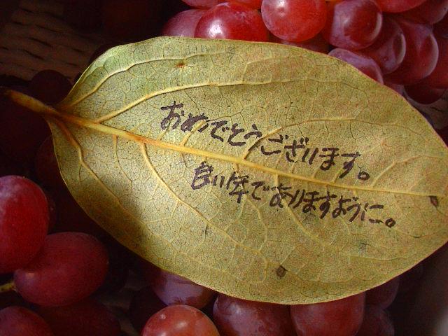 葉っぱのメッセージ。_e0060555_19571240.jpg