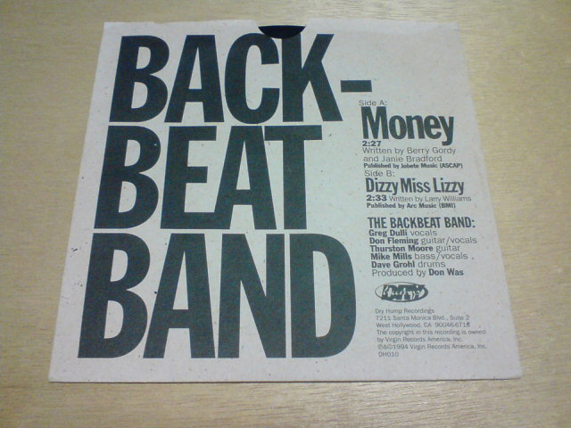 Money / The Backbeat Band_c0104445_2225661.jpg