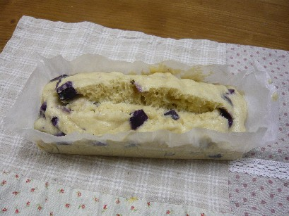 紫芋の蒸しパン♪