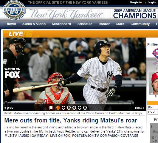 ヤンキース、ワールドチャンピオンに! 松井選手がMVP!!!_b0007805_12363252.jpg